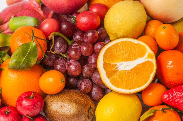 Frutas con menos azúcar